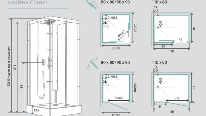 Standard Shower Space Sizes